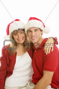 Mother Son Christmas