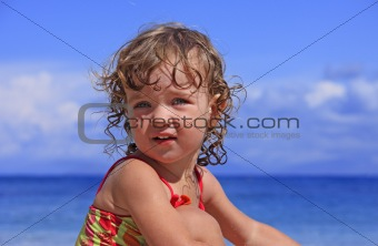Baby at the sea
