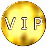 3D Golden Framed VIP