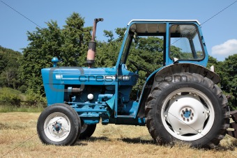image 1207553 old blue tractor from crestock stock photos