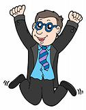 Happy jumping businessman 2