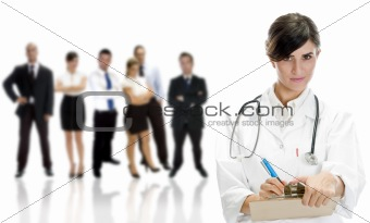 lady doctor with colleagues