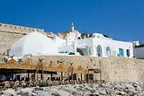 White medina over old wall