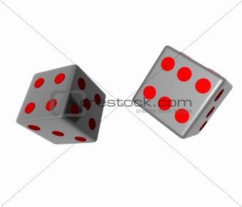 3d metal dice
