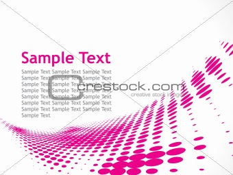 Sample Text with Halftone