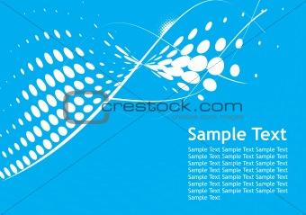 Abstract line halftone background