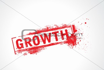 Growth grunge text with halftone