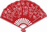 Red Oriental Chinese Fan