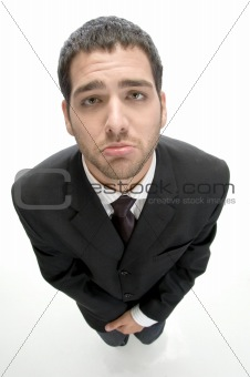 businessman making poor face