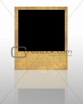 Single vintage polaroid frame