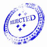 blue rejected stamp
