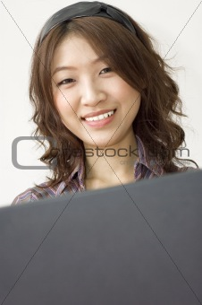 asian business women working with laptop