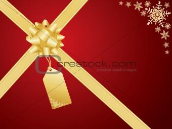 Christmas bow and gift card