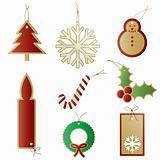 Christmas gift present tags