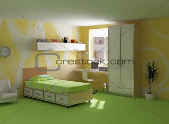 childroom modern interior