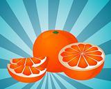 Orange sections illustration