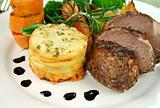 Baked Lamb And Potato Stack