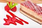 Delicious raspberries cake