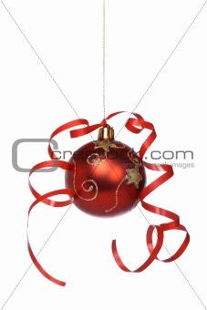 Christmas ball with a ribbon