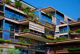 Modern Urban Building with Hanging Gardens