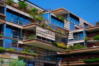 Image 1216564: Modern Urban Building with Hanging Gardens from ...