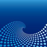 Blue Wave Circle Background
