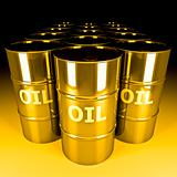 gold oil barrel