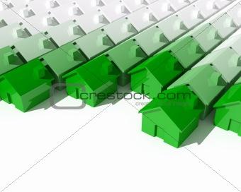 green 3d house