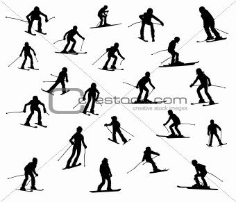 21 skiers