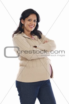 Attractive pregnant girl