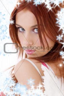 portrait of redhead angel