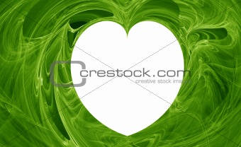 Green abstract heart