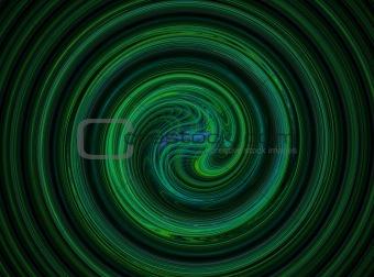 green black spiral