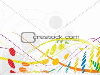 wave halftone background