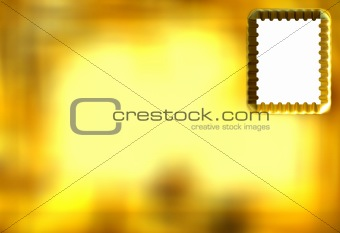 3D Golden Postcard