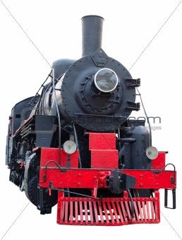 Old (retro) steam engine (locomotive).