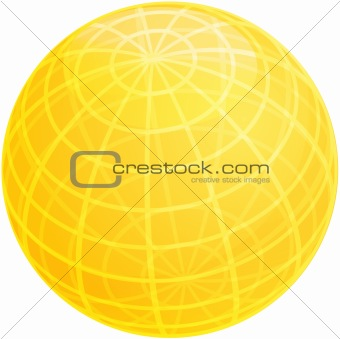 Grid sphere illustration