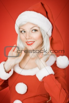 Christmas beauty girl