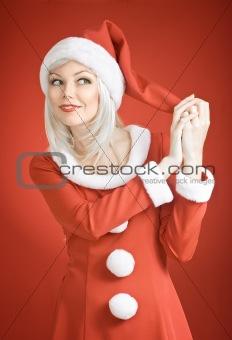 Christmas beauty girl