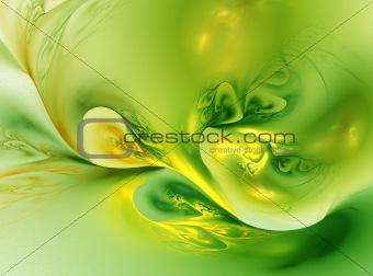 Green Yellow swirl