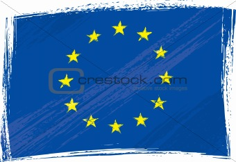 Grunge European Union flag