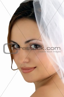 Bride isolated on white