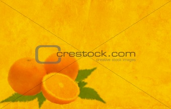Background of yellow color with oranges