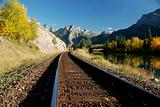 Train Tracks with Fall colors