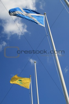 Flags flying high