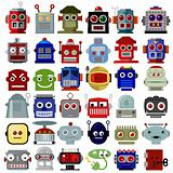 Robot Head Icons