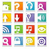 Colorful Web Icon Set