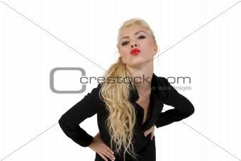 posing young woman