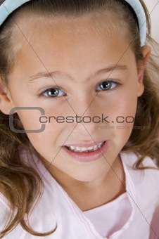 close up of cute smiling girl
