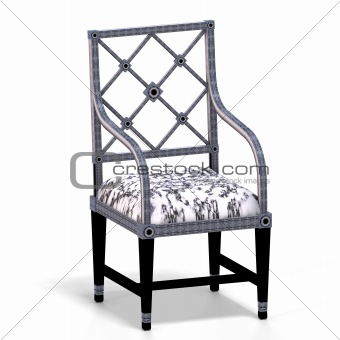 classical chair - half side view